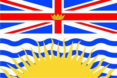 British Kolumbien / British Columbia Flagge 90x150 cm