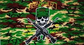Ranger Camouflage Mess with the best Flagge 90x150 cm