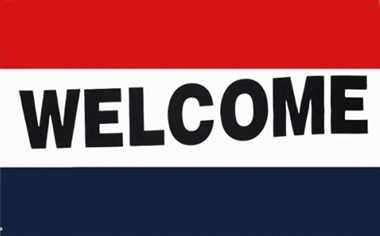 Welcome Flagge 90x150 cm