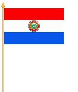 Paraguay Stockflagge 30x40 cm