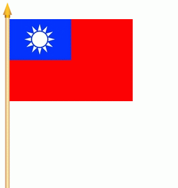 Taiwan (Republik China) Stockflagge 30x40 cm