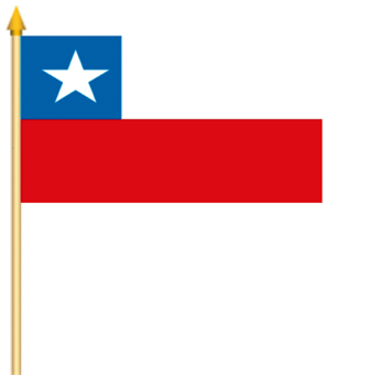 Chile Stockflagge 30x45 cm