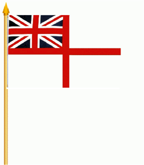 British Royal Navy (White Ensign) Stockflagge 30x45 cm