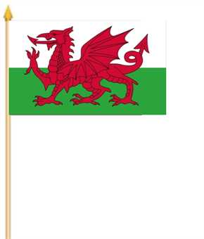 Wales Stockflagge 30x45 cm
