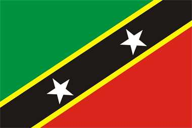 St. Kitts and Nevis Flagge Premium Querformat