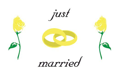 Just Married Flagge 90x150 cm