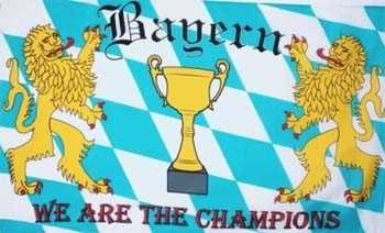 Bayern we are the Champions Flagge 90x150 cm