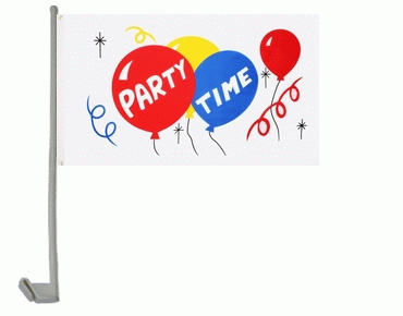 Party Time Autoflagge 30x40 cm