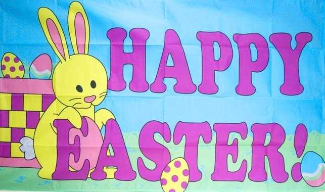 Ostern-Happy Easter Flagge 90x150 cm