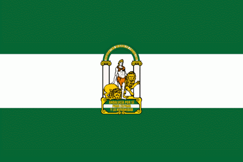 Andalusien Flagge 90x150 cm
