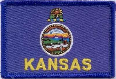 Kansas Aufnäher / Patch