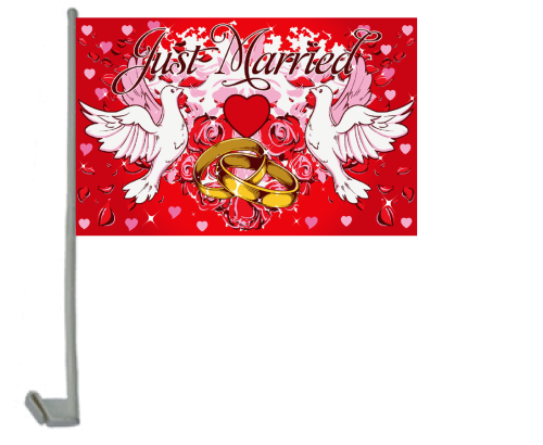 Just Married 2 Autoflagge 30x40 cm