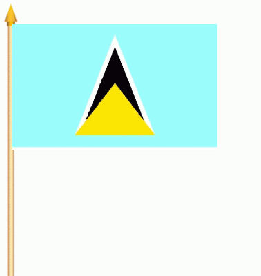 St. Lucia Stockflagge 30x45 cm