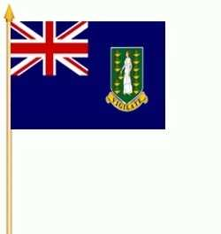 British Virgin Islands Stockflagge 30x45 cm