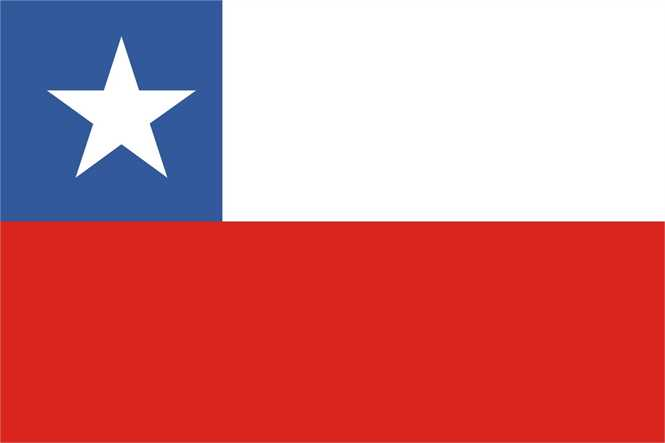 Chile Flagge Premium Querformat