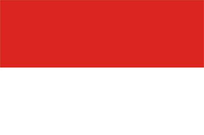 Indonesien Flagge Premium Querformat