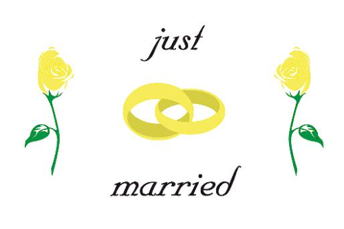 Just Married Flagge 150x250 cm (E)