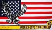 USA America love it or leave it Flagge 90x150 cm
