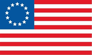 Betsy Ross (13 Sterne) Flagge 90x150 cm