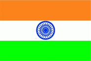Indien Bootsflagge 30x40 cm