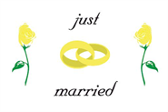 Just Married Bootsflagge 30x40 cm
