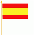 Spanien ohne Wappen Stockflagge 30x40 cm