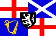 Lord Protector's Banner und Command Flag 1658-59 90x150 cm
