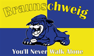 Braunschweig You'll never walk alone Bulldogge Flagge 90x150 cm