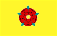 New Lancashire (Red Rose) gelb Flagge 90x150 cm
