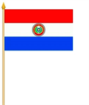 Paraguay Stockflagge 30x45 cm