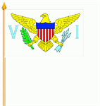Virgin Islands Stockflagge 30x45 cm