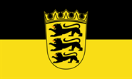 Baden-Württemberg Bootsflagge 30x45 cm