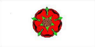 Lancashire (Red Rose) Flagge 60x90 cm