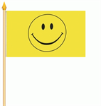 Smiley Stockflagge 30x45 cm