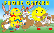 Ostern-Frohe Ostern Sonne Flagge 90x150 cm